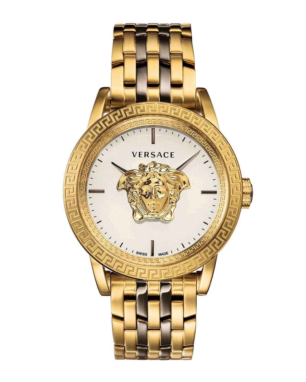 Versace Watches MEN'S 43MM PALAZZO EMPIRE WATCH, GOLD/BLACK