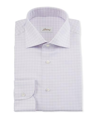 Men's Lavender Plaid Dress Shirt