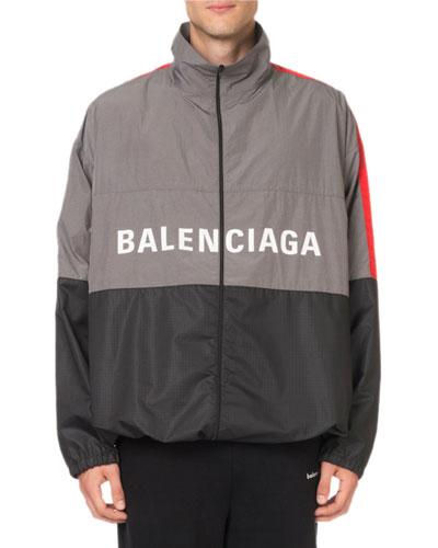 Men's Colorblock Wind-Resistant Jacket