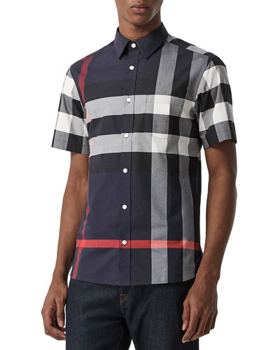Men's Windsor Check Short-Sleeve Shirt