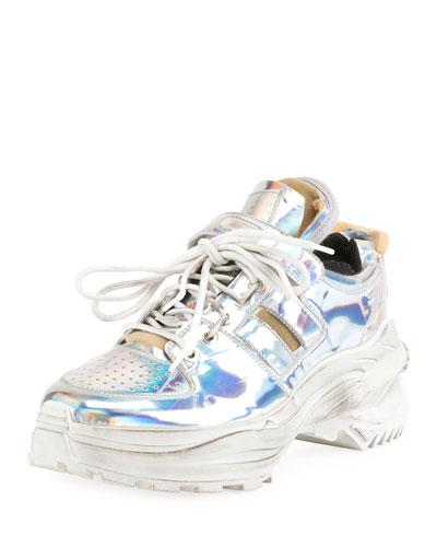 Men's Retrofit Metallic  Trainer Sneakers