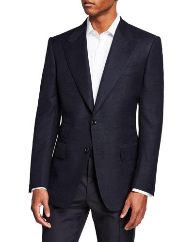 Men's Windsor Peak-Lapel Plaid Jacket