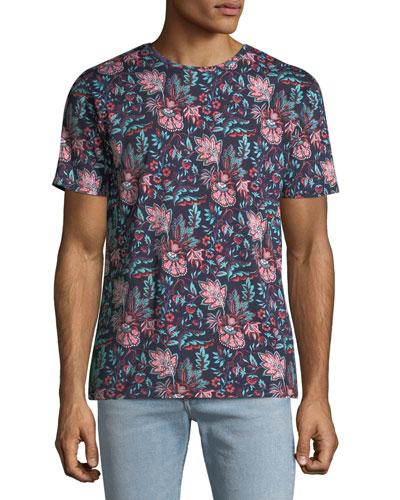 Men's Floral Print T-Shirt