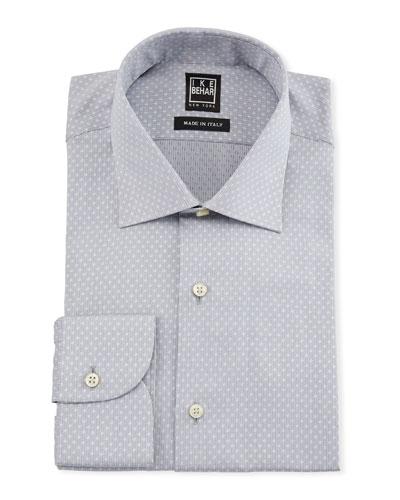 Men's Dotted Cotton Dress Shirt