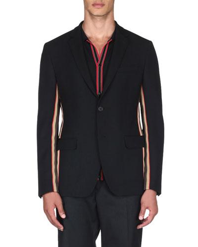 Men's Striped Blazer