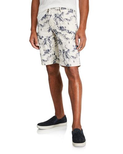 Men's Tropical Print Shorts