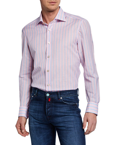 Men's Candy-Stripe Dress Shirt