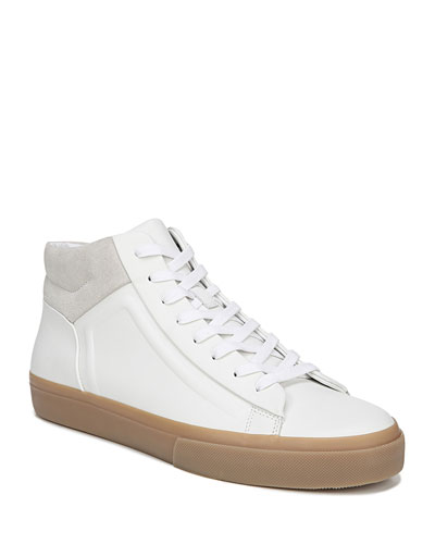 Men's Fynn Glove Leather & Suede Mid-Top Sneakers