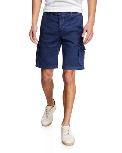 Men's Linen/Cotton Cargo Shorts