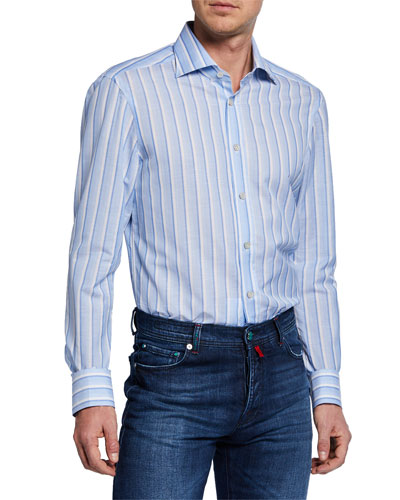 Men's Alternate-Stripe Dress Shirt