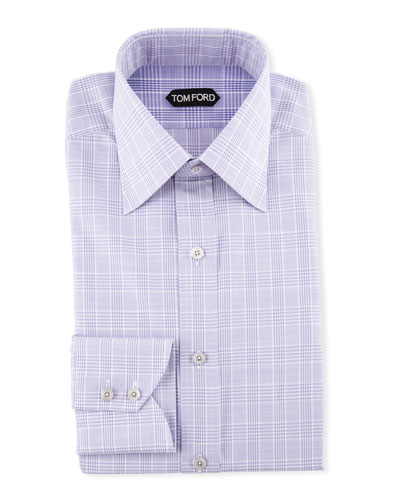 Men's Large Plaid Dress Shirt