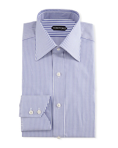 Men's Wide Stripe Dress Shirt
