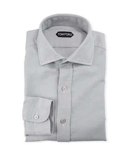 Men's Spread-Collar Oxford Dress Shirt