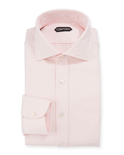 Men's Long-Sleeve Solid Dress Shirt