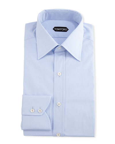 Men's Slim-Fit Solid Poplin Dress Shirt