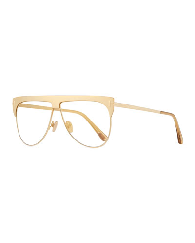 Men's Winter Transparent Mirrored Aviator Sunglasses
