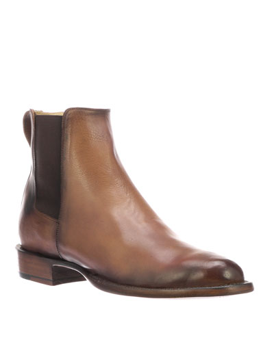 Men's Grayson Burnished Leather Chelsea Boots