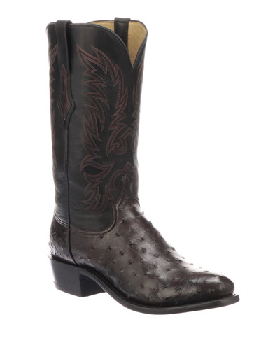 Men's Elgin Ostrich Cowboy Boots (Made to Order)