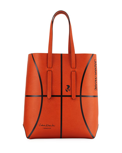 Men s The Catch Basketball Leather Tote Bag 044c92a548d8c