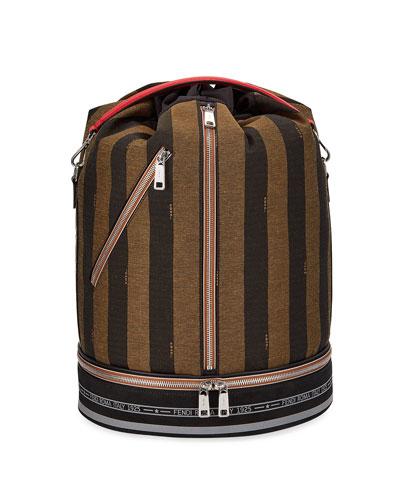 Men's Pequin Stripe Drawstring Carryall Bag