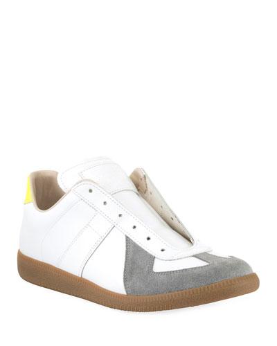 Men's Replica Colorblock Leather/Suede Low-Top Sneakers