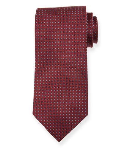 Micro-Squares Silk Tie