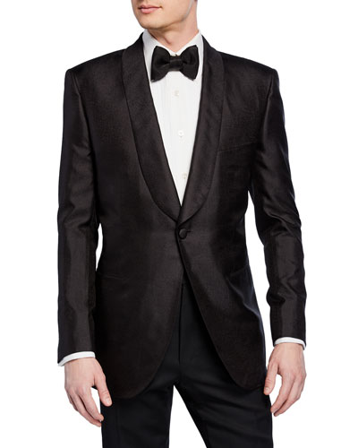 Men's Textured Shawl-Collar Dinner Jacket