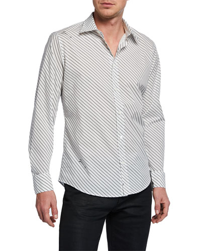 Men's Signature Striped Sport Shirt