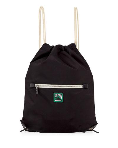 80962824393d Men s Rucksack Drawstring-Top Backpack Quick Look. Prada