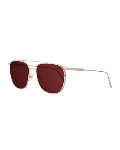 Men's Kip Square Metal Sunglasses