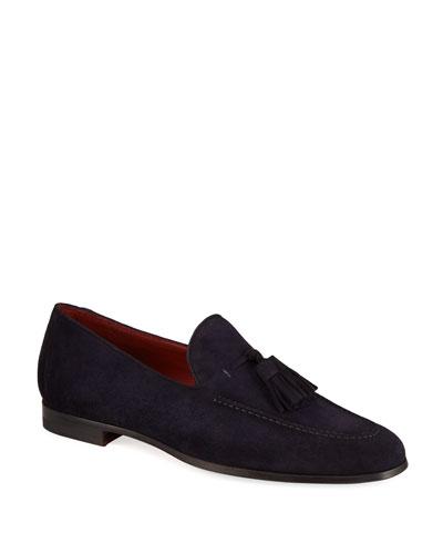 Men's Suede Tassel Loafers