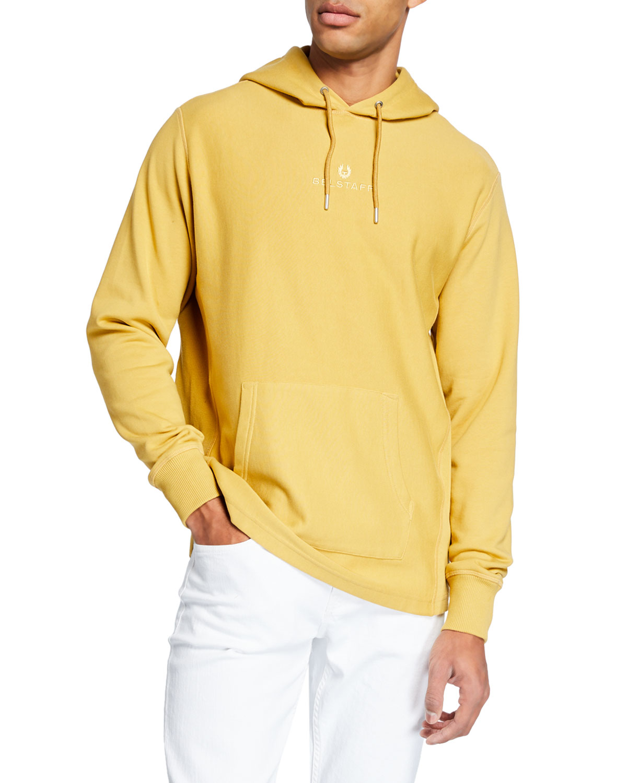 Belstaff T-shirts MEN'S LOGO PULLOVER HOODIE SWEATSHIRT