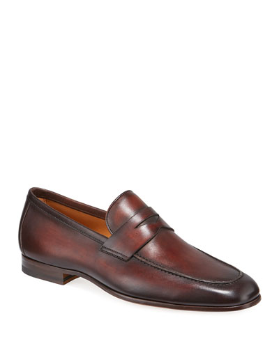 Men's Boltiarcade Caoba Leather Loafers
