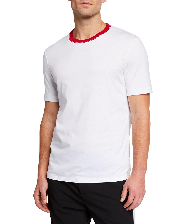 Helmut Lang T-shirts MEN'S PARACHUTE SHORT-SLEEVE T-SHIRT