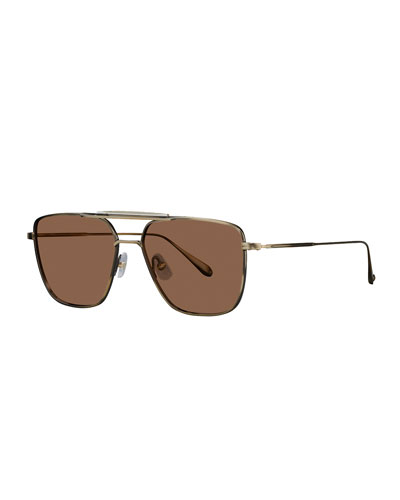 222b36f94c Men s Convoy 56 Square Aviator Sunglasses Quick Look. Garrett Leight