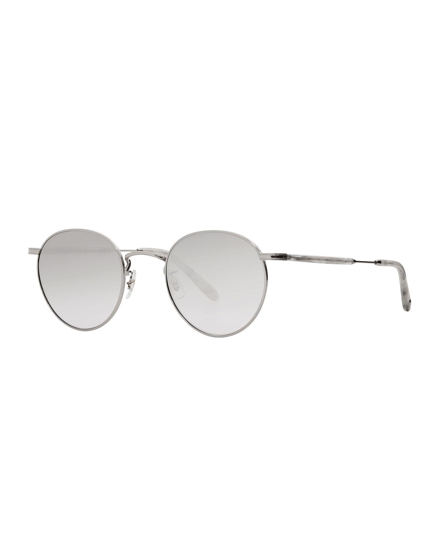 Men'S Wilson M 49 Round Glasses in Gray Metallic