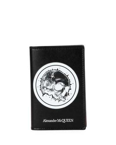 Men's Skull Graphic Leather Organizer Wallet
