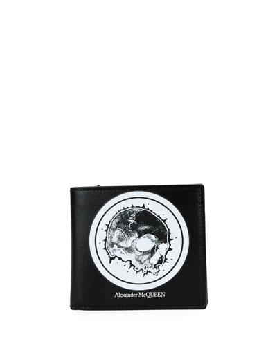Men's Skull Graphic Leather Wallet