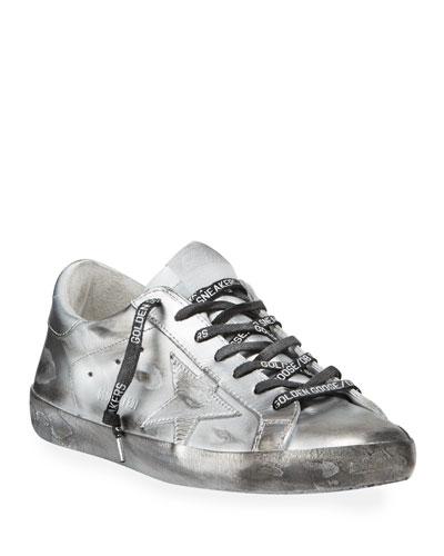 Men's Superstar Metallic Leather Sneakers