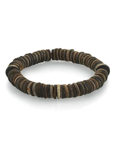 Men's Coconut & Diamond Bracelet, Size M