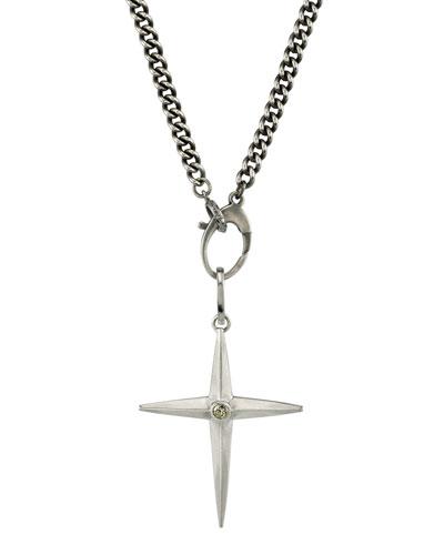 Men's Spike Cross Pendant Necklace
