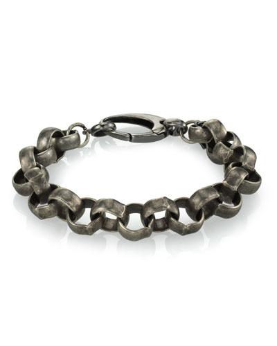 Men's Rolo Chain Bracelet, Size M