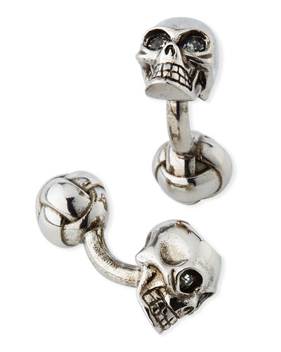 Men's 3-D Skull Cufflinks