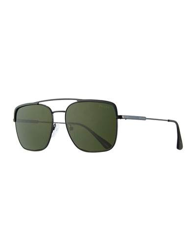 ca75e1a89fac Made in Italy. Men s Square Metal Aviator Sunglasses Quick Look. Prada