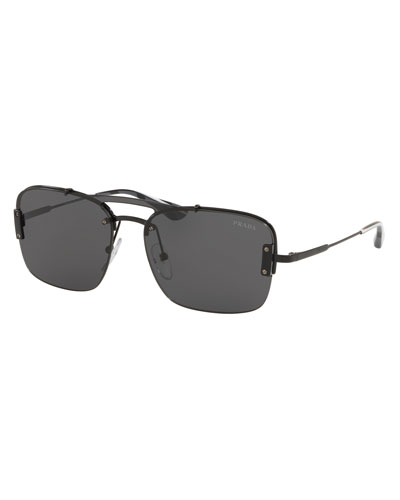 f0fc7f284f Men s Double-Bridge Square Sunglasses