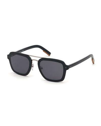 Men's Shiny Acetate Sunglasses