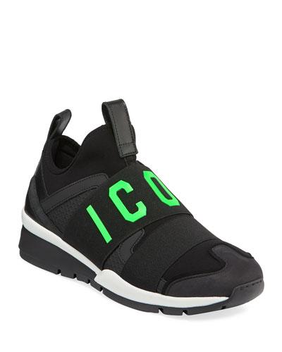 Men's Icon Neoprene & Leather Trainer Sneakers