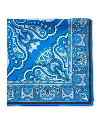 Men's Bangalore Paisley Silk Pocket Square