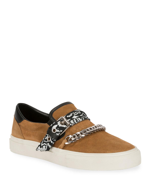 Amiri Sneakers MEN'S SUEDE SLIP-ON BANDANA SNEAKERS