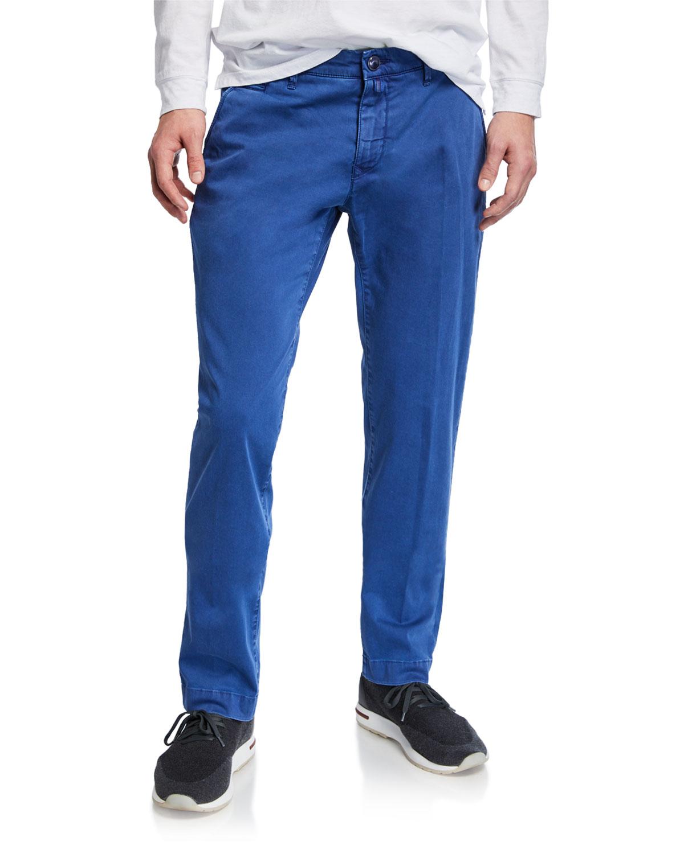 Jacob Cohen Pants MEN'S BOBBY STRETCH COTTON PANTS, BLUE